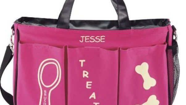 Personalized dog cat or other pet carrier bag via Kaye Swain Roseville CA pet friendly real estate agent