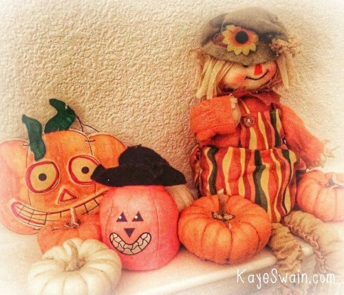 Autumn Decorations for the home remind me of grandkid and grandparent fun Kaye Swain real estate agent blogger Kaye Swain