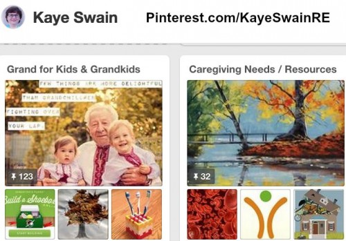 Kaye Swain REALTOR and eldercare blogger is also at Pinterest
