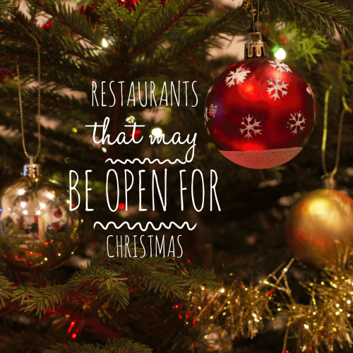 Kaye Swain Roseville CA REALTOR blogger shares restaurants open Christmas with boomers and seniors
