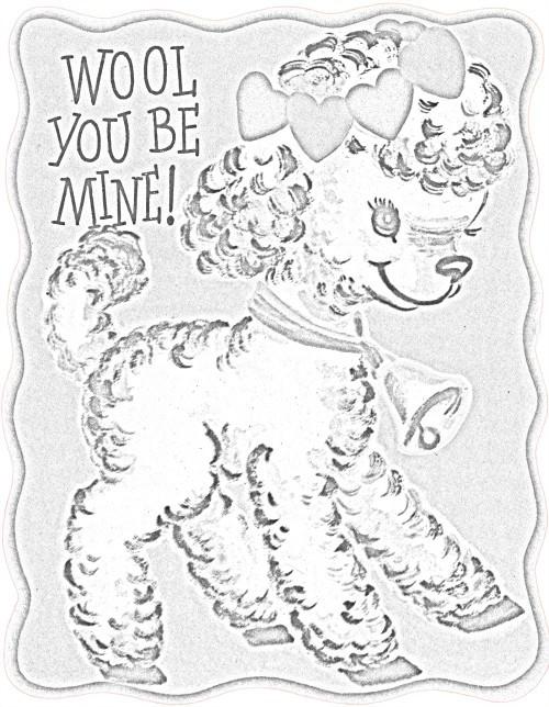 Kaye Swain Roseville Sacramento CA REALTOR sharing Valentine Fun Coloring sheep