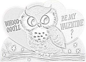 Kaye Swain Roseville Sacramento CA REALTOR sharing Valentine Fun Coloring Page 5 owl