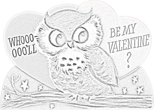 Kaye Swain Roseville Sacramento CA REALTOR sharing Valentine Fun Coloring Page owl