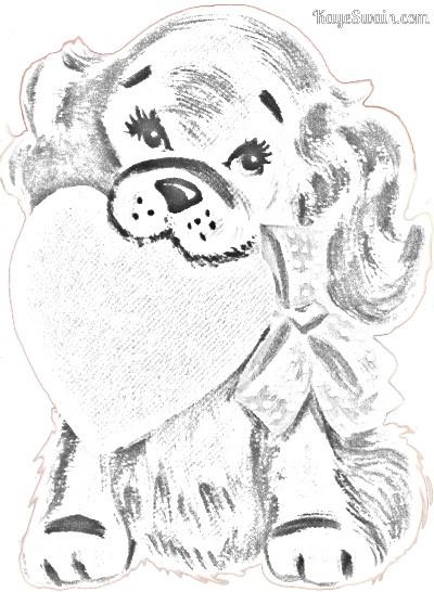 Kaye Swain Roseville Sacramento CA REALTOR sharing Valentine Fun Coloring Page doggy