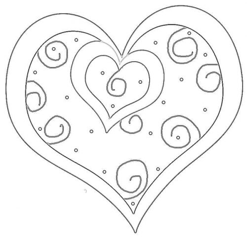 Valentine heart coloring page for the Sandwich Generation