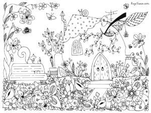 Coloring page joys older grandkids senior parents can enjoy via Kaye Swain Roseville REALTOR