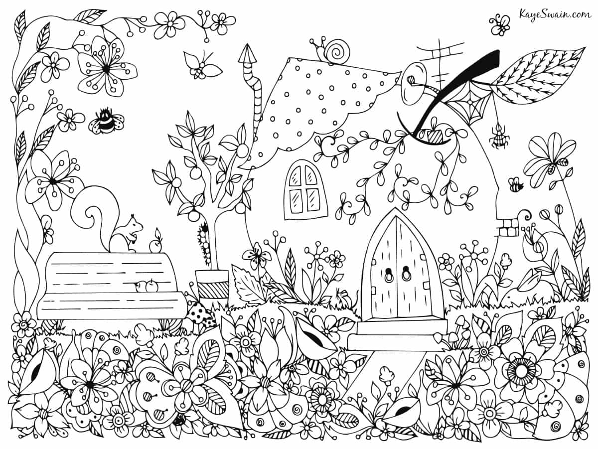 Coloring page joys older grandkids senior parents can enjoy via Kaye Swain Roseville REALTOR