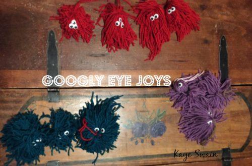 Kaye Swain Grandkids loved googly eyes BEST