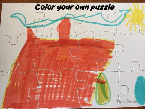 Kaye Swain Roseville Sacramento real estate agent sharing Color Your Own Puzzle grandkid joys