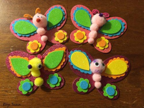 Roseville CA REALTOR sharing grandkids crafts butterflys
