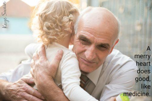 Scripture picture encouragement for elderly seniors and cute grandkids