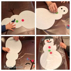 Snowman activities for grandkids and grandparents
