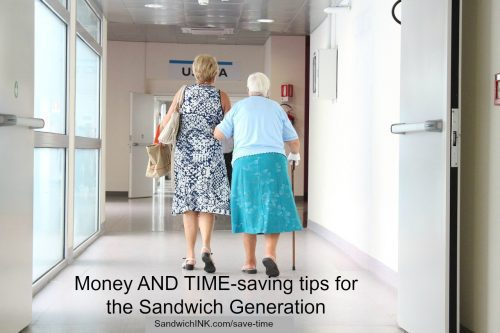 Sandwich Generation money and time tips while caring for elderly parents