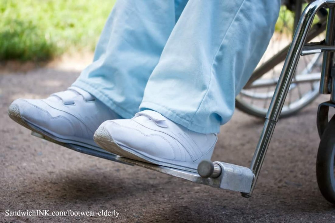 footwear like velcro shoes elderly can put on more easily