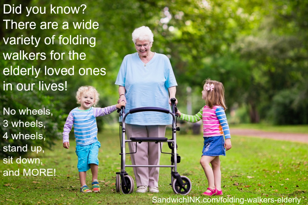 Folding walkers elderly parents in our lives can use