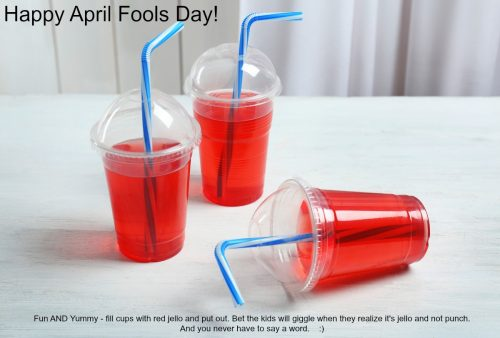 April Fools Day fun with no words for the Sandwich Generation grandparents and grandkids