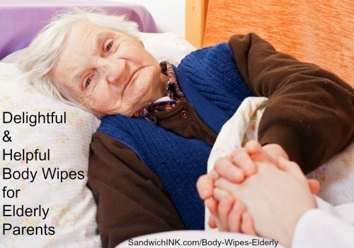 Delightful and helpful body wipes for elderly parents at SandwichINK for the Sandwich Generation