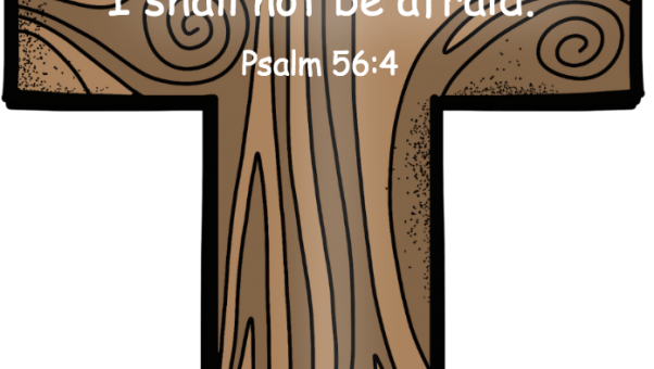 Psalm 56 4 Trust God so not afraid in color