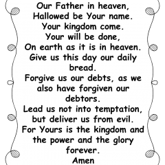 Lords Prayer with Dots Frame for Grandkids