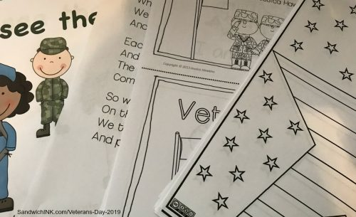 Free preschool veterans day coloring pages printables along with more ideas and activities for the Sandwich Generation