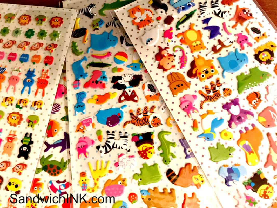 Lots Of Fun Stickers For Sticker Crafts Activities Toddlers Can Enjoy With Supervision